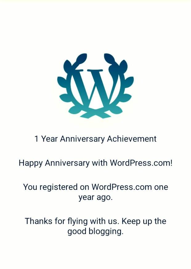 1 year blog